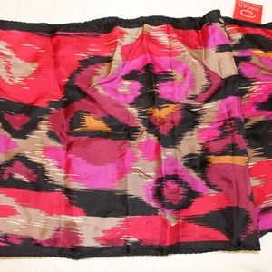 Bright Colored Silk Neck or Hair Scarf
